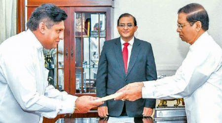 Sajith Premadasa was sworn in as the minister of Housing Construction and Cultural Affairs
