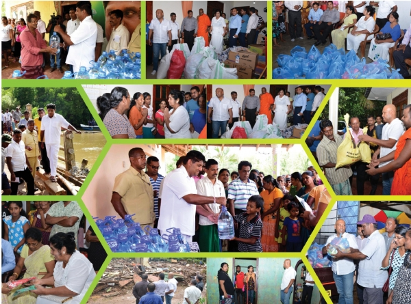 Assistance to rehabilitate the lives of the people and the housings affected by floods.