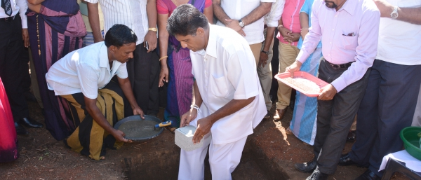 INAUGURATION OF CONSTRUCTION WORK OF RANTHURUNUGAMA - DAMBULLA WITH THE AUSPICES OF HON. MINISTER OF HOUSING AND CONSTRUCTION