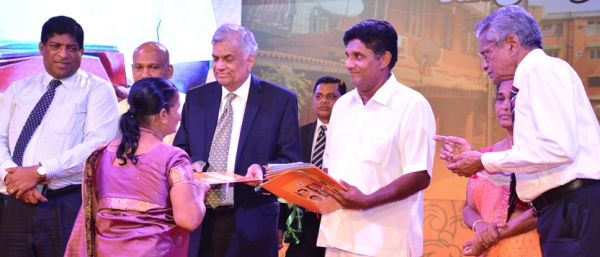 "Deeds for 3000 residents in Colombo District ""Nivasaka Himikama Diviyata Saviyak"""