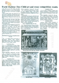 World Habitat Day Child Art & Essay Competition (26.09.1989 Daily News)