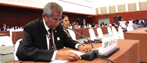 SRI LANKA IS ONE OF THE FIRST COUNTRIES TO COMMIT TO THE IMPLEMENTATION OF INABLING STRATEGY IN HUMAN SETTLEMENT DEVELOPMENT