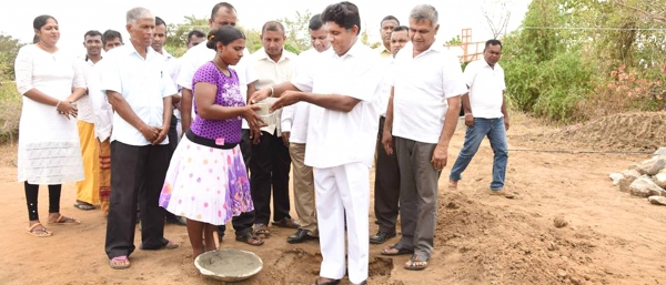 "Laying of foundation for ""Saarasagama"""