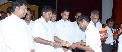 Hon.Minister Sajith Premadasa  Distributed Financial Grants among Housing Beneficiaries in Galle District.