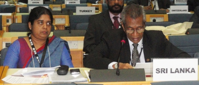 Mr. L.S. Palansuriya, Chairman of NHDA, addressing the UN-Habitat 2015 Session