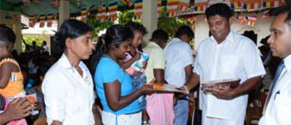 Hon. Minister Sajith Premadasa distributed financial grants among housing beneficiaries in Hambantota District